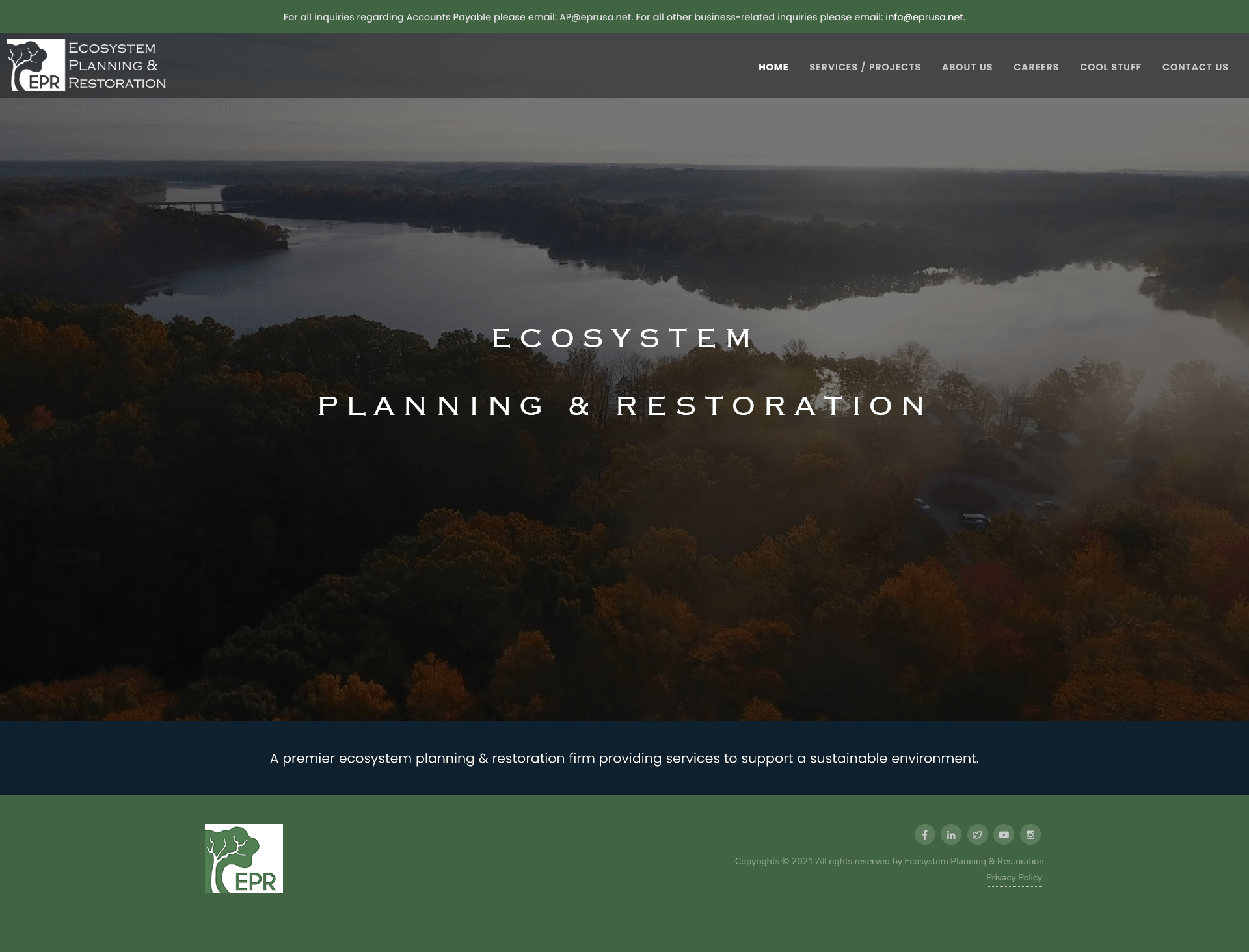 EPR Website Screenshot