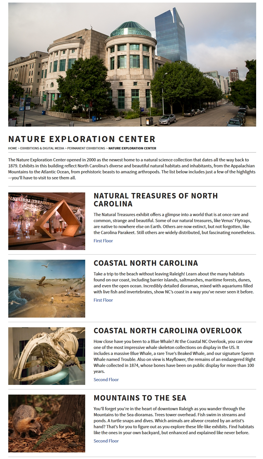 NCMNS Website Screenshot - NRC Tablet Device View