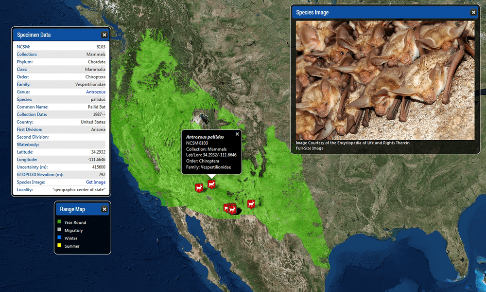 NCSM Species Mapper Screenshot 3