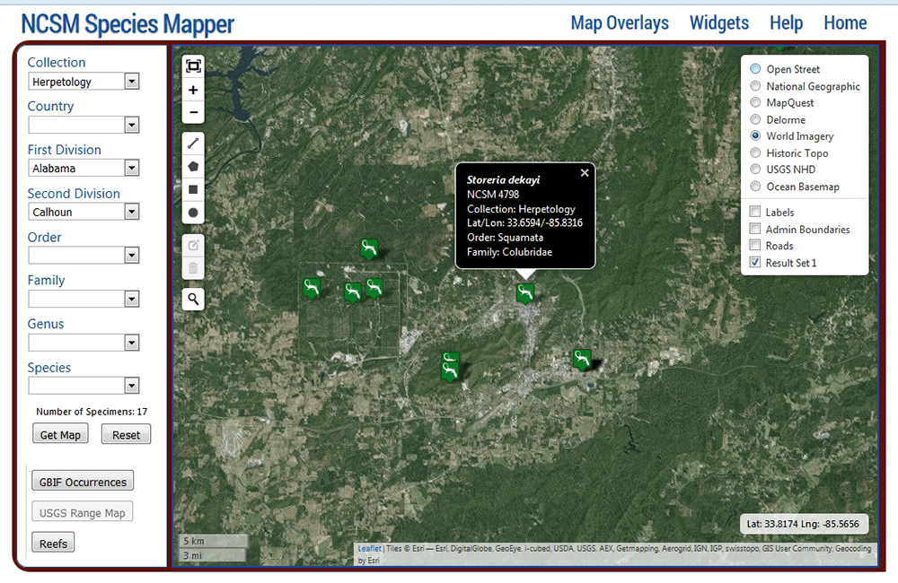 NCSM Species Mapper Screenshot 6