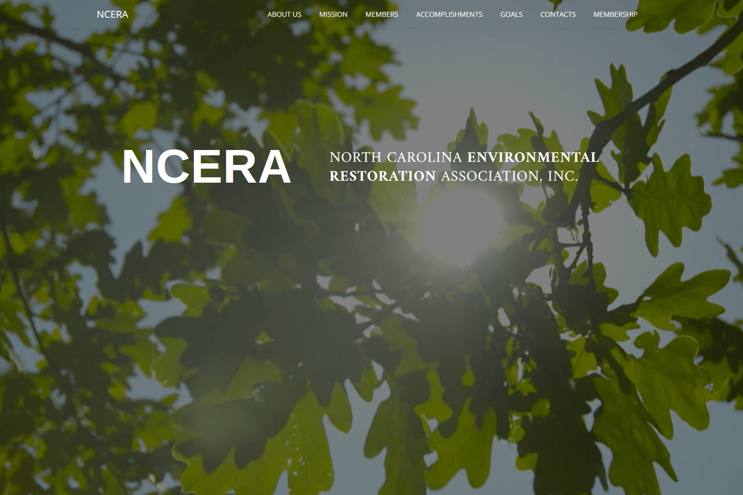 NCERA Website Landing