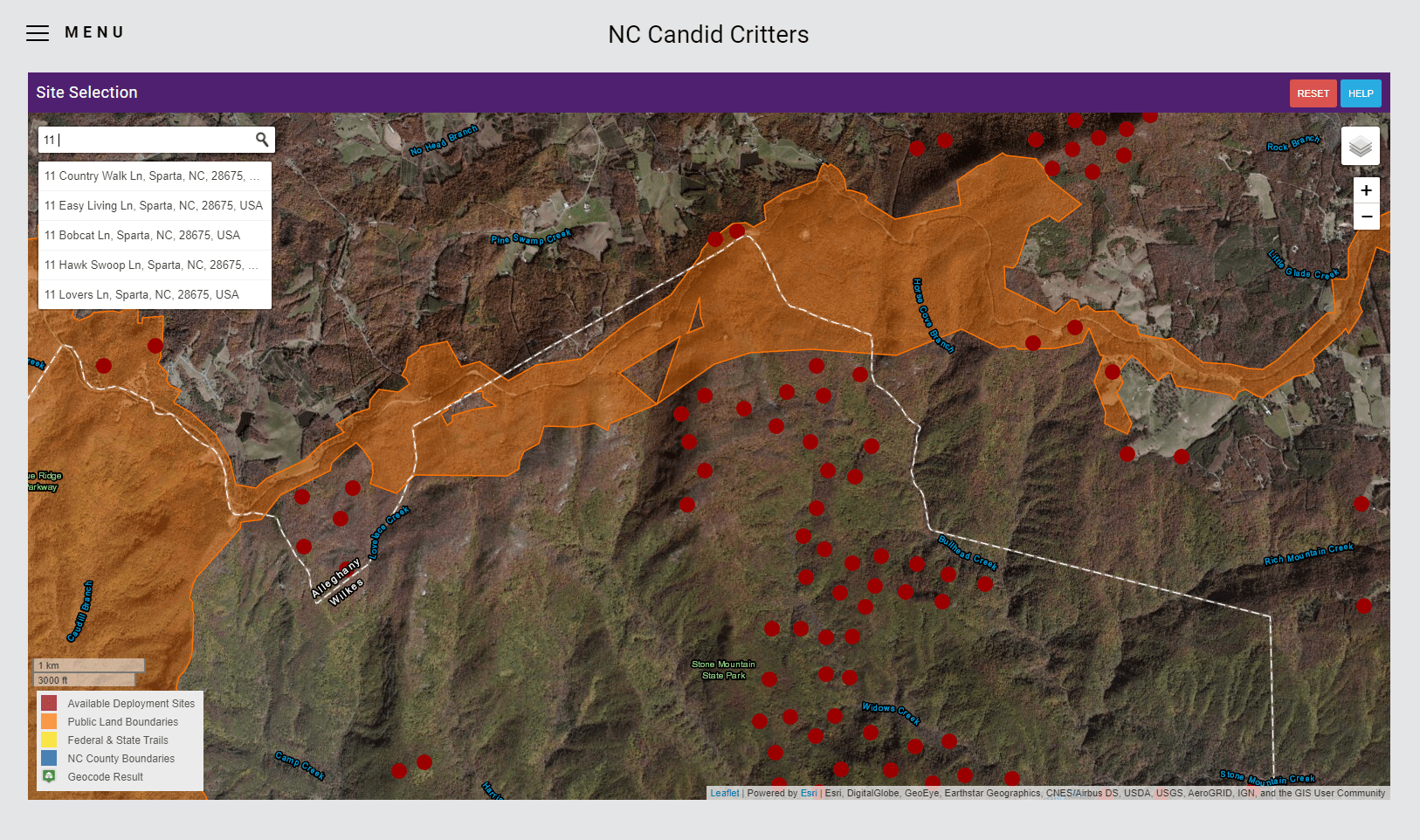 NC Candid Critter Data Manager Screenshot